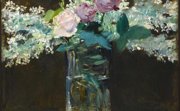 Vase of White Lilacs and Roses, 1883