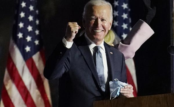 Joe Biden rallied supporters Wednesday, Nov. 4, in Wilmington, Del. Though he is now U.S. president-elect, Biden will have to await outcomes of January run-off races in the Senate to know much support he's likely to get there for his health care agenda.
