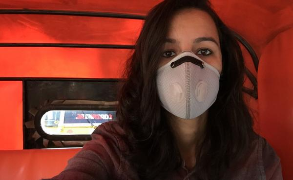 NPR producer Furkan Latif Khan doesn't like to leave her home in New Delhi without her breathing mask — although one doctor told her it might not help all that much.