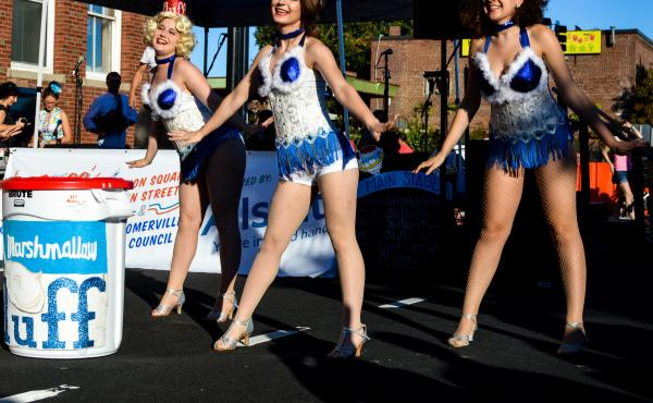 The Flufferrettes perform at the 12th annual What the Fluff? festival, celebrating 100 years of Marshmallow Fluff.