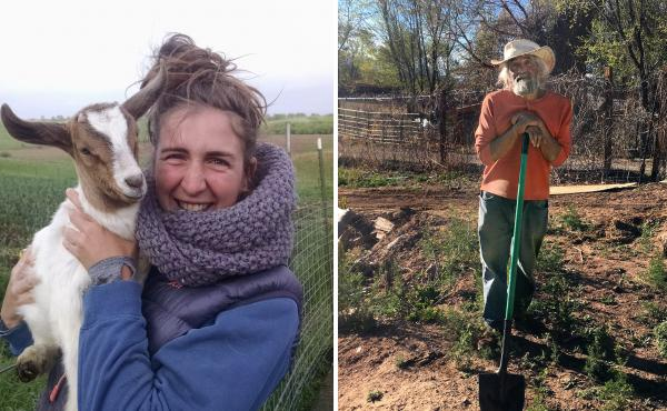 Carmen Black (left) took over a farm in Iowa last year. Don Bustos has been farming in New Mexico for decades.