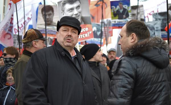 """""""Putin and his entourage are absolutely not interested in bad relations with America. They're scared of that. But the circumstances are such that they can't help but use anti-Americanism to strengthen their grip on power,"""" says Gennady Gudkov, an oppositi"""