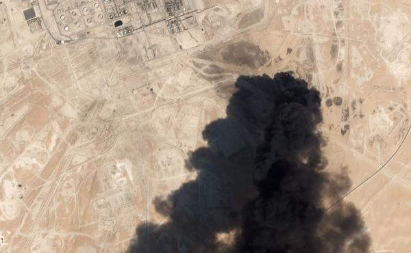 A photograph taken by the commercial satellite company Planet shows the Abqaiq facility shortly after an attack on Sept. 14.
