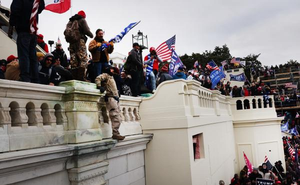 Convinced the election was stolen, thousands of Trump supporters storm the U.S. Capitol building on Jan. 6 as Congress counts and certifies the Electoral College vote.