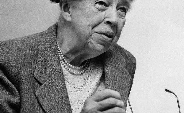"""Eleanor Roosevelt's advice column — """"If You Ask Me"""" — ran from 1941, when she was still first lady, to her death in 1962. She's shown in October 1957."""