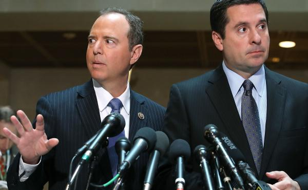 Democrats, led by House intelligence committee ranking member Adam Schiff (left), have been dueling with Republicans, led by House intelligence committee chairman Devin Nunes (right), for months over the FISA document.