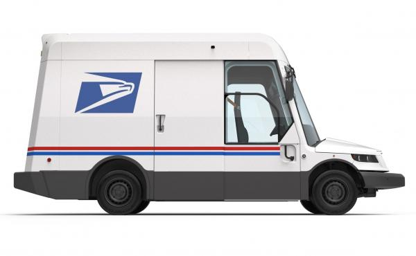 This prototype of a new USPS mail delivery truck is part of a recent contract to upgrade the Postal Service's fleet of delivery trucks. Only about 10% of the new vehicles will be electric, despite pressure from the president and Congress to do more.