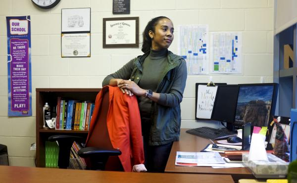 Nicole Boykins is principal at Crocker College Prep in New Orleans. The pre-K through eighth grade school is one of five schools in a program to better serve children who've been exposed to trauma.