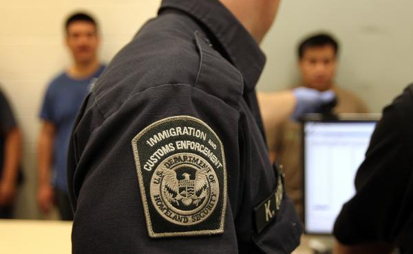 An Immigration and Customs Enforcement (ICE) in Phoenix, Ariz., on Apr. 28, 2010.