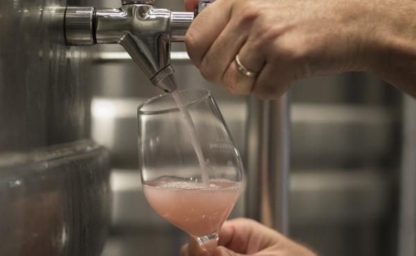A winemaker pours rosé at the Chateau Sainte Roseline in the southern France region of Provence. European producers of premium specialty agricultural products like French wine, face a U.S. tariff hike with duties on a range of European goods, including