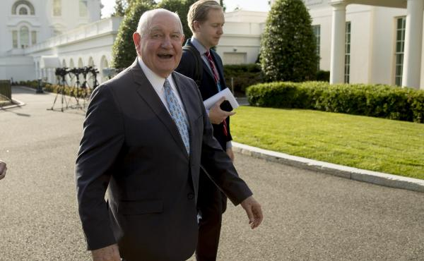 Agriculture Secretary Sonny Perdue announced on Thursday $16 billion in aid to help farmers hurt by the ongoing U.S.-China trade dispute.