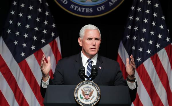 Vice President Pence announces the Trump Administration's plan to create the U.S. Space Force by 2020 during a speech at the Pentagon on Thursday.