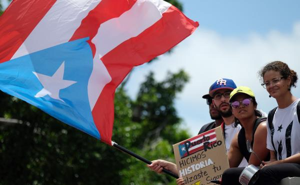 Demonstrators took to the streets Friday, a day after Puerto Rico Gov. Ricardo Rosselló announced he would resign. It is unclear who will take his place.