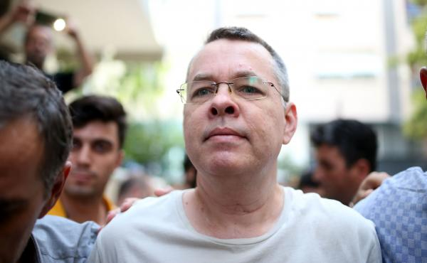 "American pastor Andrew Brunson is being held in Turkey on accusations of terror and espionage.In a tweet, President Trump called Brunson ""a great Christian, family man and wonderful human being."""