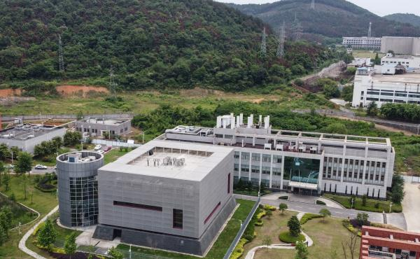 A laboratory on the campus of the Wuhan Institute of Virology in Wuhan in China's central Hubei province in May 2020. Focus has turned back to the facility as a possible origin of the coronavirus pandemic.