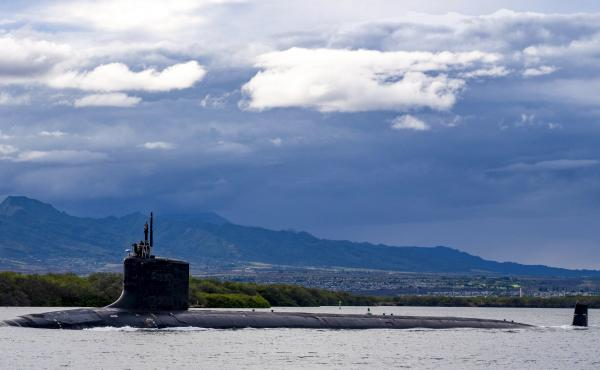 The USS Missouri, pictured in Hawaii earlier this month, is one of the U.S. Navy's nuclear-powered submarines. The U.S., U.K. and Australia signed into a partnership last week that will provide Australia with eight nuclear-powered submarines.
