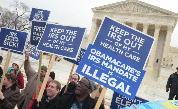Opposition to Obamacare has been strong from the beginning. Demonstrators made their dissatisfaction clear in front of the Supreme Court in 2015.