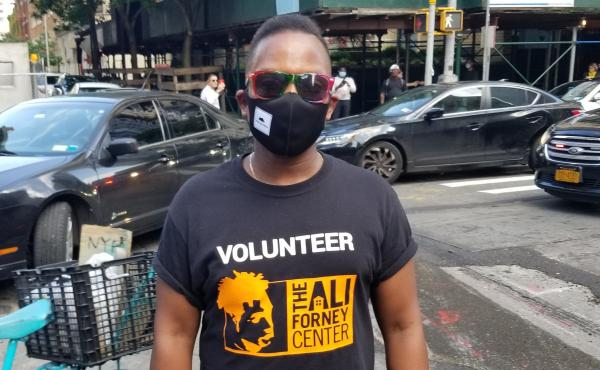 Billy Dume says he has focused his public activism primarily on LGBTQ issues. He says George Floyd's death led him to march for racial justice in New York City.