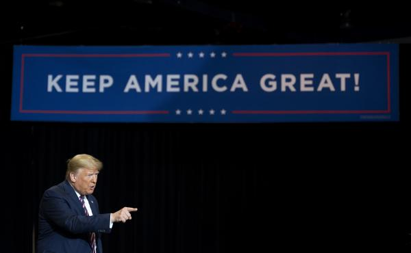 President Trump at a Keep America Great rally in Las Vegas earlier this year.