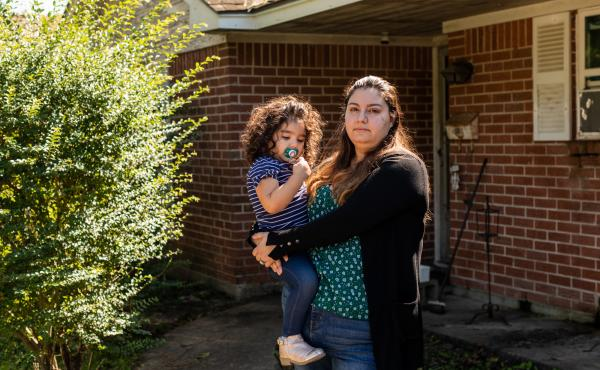 Erica Cuellar, her husband and her daughter moved in with her father in his home early in the pandemic, after she lost her job. She and her husband were worried they wouldn't be able to afford the rent on their house in Houston with only one income. In Ju