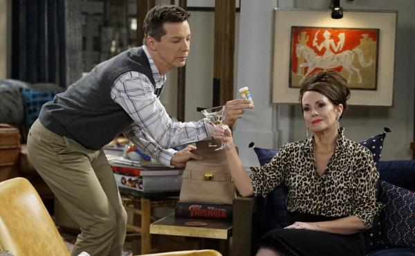 Sean Hayes and Megan Mullally once again play Jack McFarland and Karen Walker in NBC's Will & Grace.