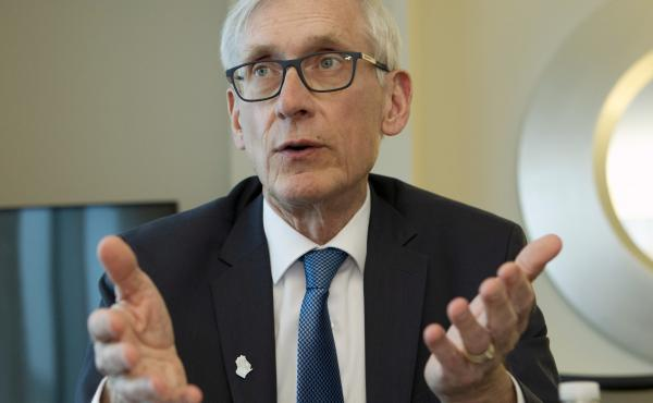 Wisconsin Gov. Tony Evers, pictured earlier this month, issued an executive order on Monday recalling all National Guard and Airmen troops from the U.S.-Mexico border.
