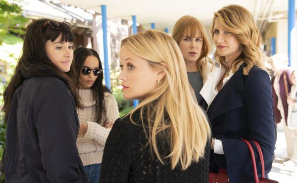 Season 2 of HBO's Big Little Lies finds the so-called Monterey Five (Shailene Woodley, Zoë Kravitz, Reese Witherspoon, Nicole Kidman and Laura Dern) dealing with the emotional aftermath of the killing that concluded Season 1.
