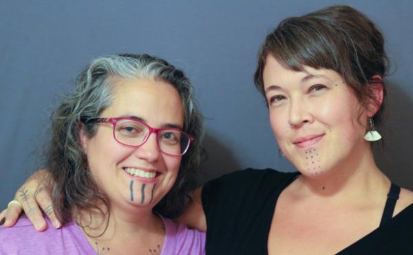 Grete Bergman, left, and Sarah Whalen-Lunn at their StoryCorps recording in Anchorage, Alaska, in 2018.
