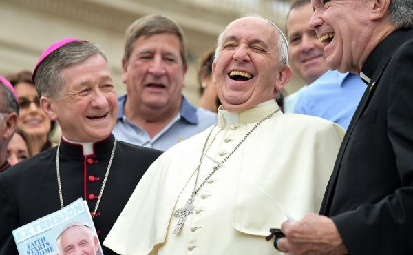Among bishops and priests, Pope Francis is in familiar — and lighthearted — territory. But among non-Catholics in the U.S., the pope's comments have also generated significant enthusiasm.