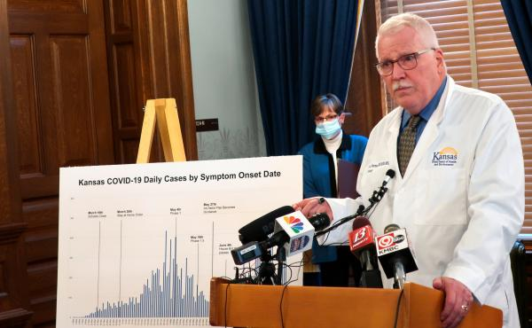 Dr. Lee Norman, secretary of the Kansas Department of Health and Environment, discussed the resurgence in coronavirus cases in the state this week. The state hospital association fears there will be delays in getting coronavirus data under new federal rul