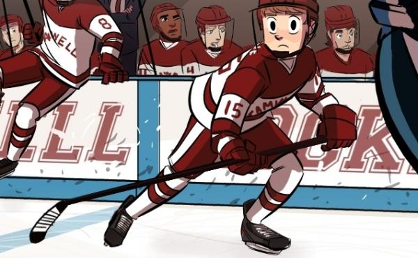 "Eric ""Bitty"" Bittle takes to the ice in ""Check Please,"" one of the most popular hockey webcomics (yes, that's a thing)."