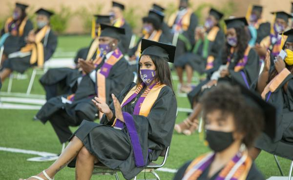 Roslyn Clark Artis, president of Benedict College, hosted a graduation ceremony for 180 students in the school's football stadium in August. She says she would recommend a socially distanced commencement to other colleges and universities — but she ackn