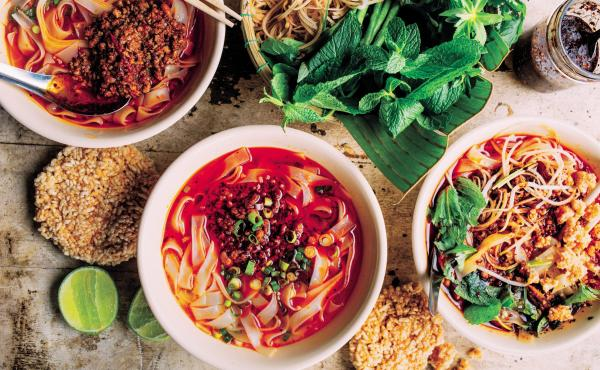 Chef James Syhabout says that, as he was writing the Hawker Fare cookbook, certain recipes became time machines, reminding him of who was in the room when it was made, and the surrounding colors and smells in the atmosphere.