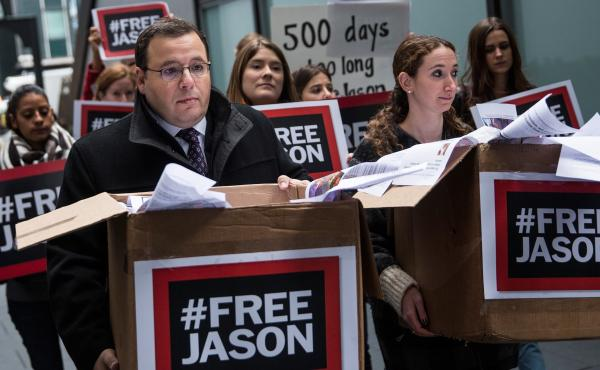 Ali Rezaian, brother of Washington Post journalist Jason Rezaian — who has now been imprisoned in Iran for 500 days — brings a petition to the Iranian Mission to the United Nations calling for his brother's immediate release.