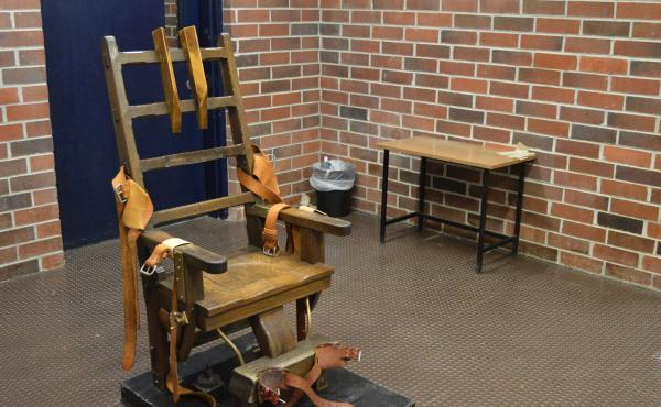 South Carolina Gov. Henry McMaster has signed into law a bill that forces death row inmates to choose between the electric chair or a firing squad if lethal injection drugs aren't available. The state's electric chair is seen here in Columbia, S.C.