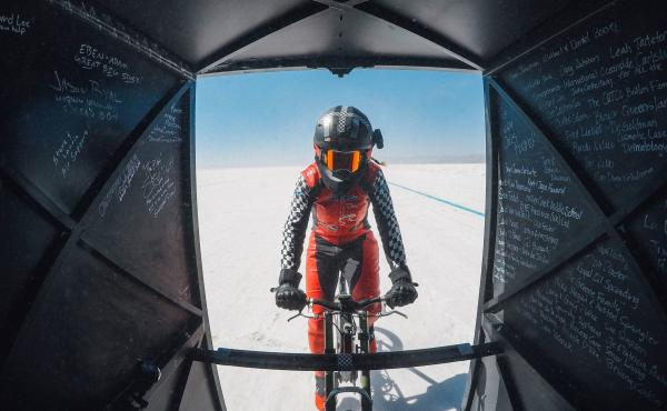 Denise Mueller-Korenek rode a custom bike at an average of 183.932 miles per hour – shattering a world record that had stood since 1995.