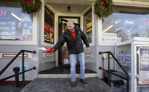 Sam Safa, of Merrimack, N.H., owns Reeds Ferry Market, where last month's winning Powerball ticket was sold. The prize remains unclaimed, however, as the woman who says she won wants her name kept private.