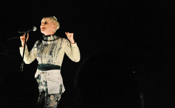 Robyn performs at Radio City Music Hall in New York City on February 5, 2011.