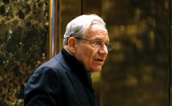 Journalist Bob Woodward, seen here in 2017 arriving for meetings with President-elect Donald Trump at Trump Tower in New York, is the author of the newly released book Rage.