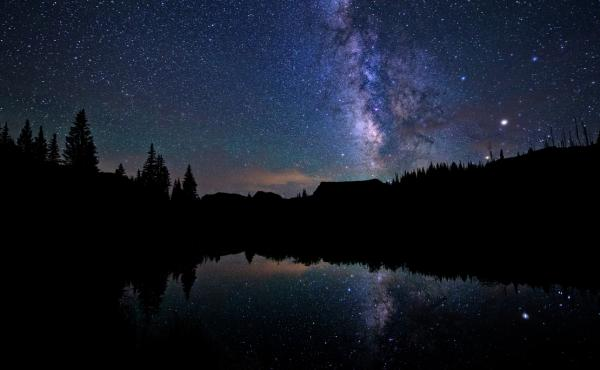 The night sky as seen from Flat Tops Wilderness, Colorado.