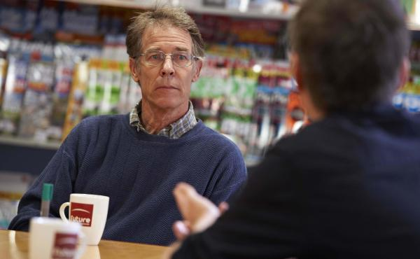 American science fiction author Kim Stanley Robinson, photographed during a discussion with SFX Magazine on June 8, 2012.