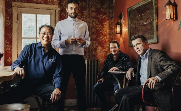 The musicians on Not Our First Goat Rodeo, from left to right: Yo-Yo Ma, Chris Thile, Stuart Duncan and Edgar Meyer.