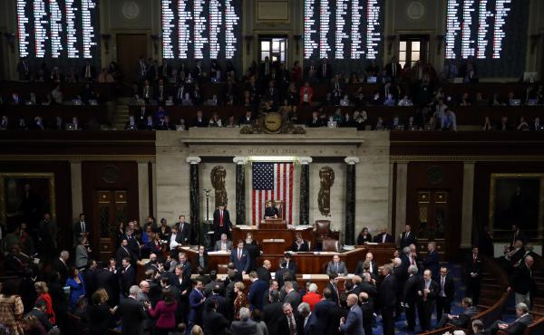 U.S. House Of Representatives Votes On Impeachment Of President Donald Trump