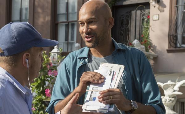 In Friends From College, Keegan-Michael Key plays an author who has moved to New York with his wife, where they're both reunited with old college friends.
